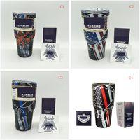 Wholesale Yetis oz Rambler Tumblers Travel Vehicle Mugs Camo Skull Star Double Wall Bilayer Vacuum Insulated yetis Cups