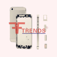 Cheap for iPhone 5 Back Cover Housing Cell Phone Battery Door Cover Replacement Repair Parts High Quality Low Price Free Ship