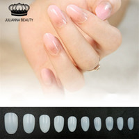 Wholesale Nature False Fake Nail Tips Fashion Beauty Full Cover Nail Art Tips Design Instant Short Oval Bride Nail Tips Essential