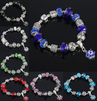 beads accessories design - New Design DIY Crystal Beads Charm Bracelets European and American Fashion Jewelry Accessories Women Beaded Bracelet colors