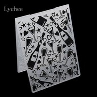 Wholesale Plastic Embossing Folder For Scrapbook DIY Album Card Tool Plastic Template Stamp Party Wine Glass Goblet Star