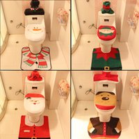 adding toilet - Latest Christmas decorations Christmas products toilet set of Christmas Santa three piece toilet hotel add festive atmosphere package mail