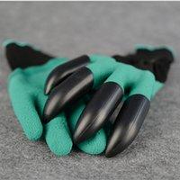 Садовые перчатки Genie с 4 когтями Построенные в когтях OPP BAG простой способ озеленения сажать перчатки для посадки Водонепроницаемый устойчивый к шипам freeship