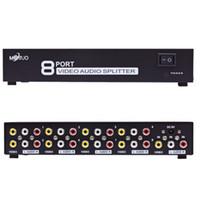 MT-108AV 8 Ports 1 En 8 Sortie 1x8 voies 3 RCA Audio Audio TV TV Box HDTV DVD PS-3 Splitter Switch de l'amplificateur