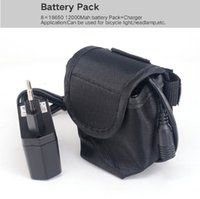 Rechargeable bag lamp - 8x18650 Battery Pack mAh v Lithium Battery Pack FOR Led Bike bicycle Lights lamp with battery Bag