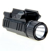 Wholesale High Quality Aluminum Alloy CREE Lumens LED Tactical Flashlight Torch With Rail Mount For Hunting Hiking And Camping