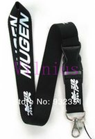 Wholesale Black Mugen Auto Logo Style Cell Phone ID MP3 MP4 Neck Strap Lanyard Charms