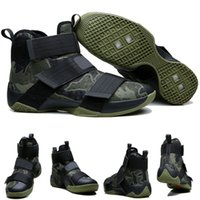 battle box - with shoes Box LeBron Zoom Soldier X Men Basketball Shoes James Battle The Doubt Camo Green Kids shoes