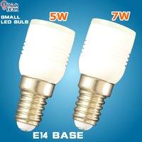 al por mayor tamaños de las bases de bulbo-E14 llevó la luz pequeña 5w 7w del bulbo de la lámpara de la lámpara llevó el bulbo smd 3014 24 bulbo del proyector de los leds de los PC lámpara 110v 220v 230v 240v de la bombilla
