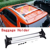Wholesale 2X For Ford Ecosport CAR VEHICLE Silver Aluminum Luggage Carrier Holder Parcel RacK DIY