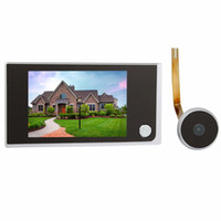 Wholesale 3 quot Video Intercom Digital LCD Door Viewer Megapixel Camera Door Intercom Monitor for Home Security F4344A