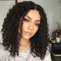 best bobs - 8A Best Lace Front Wigs Human Hair Glueless Full Lace Wig bob Short Brazillian Hair Deep Curly Bob Style Wigs For Black Women