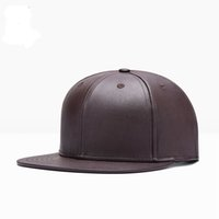 ball state dance - The new Europe and the United States PU baseball hat Man woman pure color hip hop cap flat hat dance hat