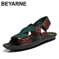 best beach shoes - Best selling Classic Design Men Sandals Hemp Genuine Leather Beach sandals Men Slippers Men Summer shoes
