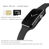 Polish x6 smart watches - X6 Sport Smartwatch Curved Screen smartwatch For iPhone Android Phone With Camera Support SIM Card TF Smart Watch Phone DHL Free OTH316