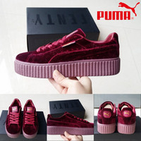basketball lights - Puma by Rihanna Suede Creepers Basketball Shoes Men Women Fashion High Quality Athletics Sneakers Sport Running Boot