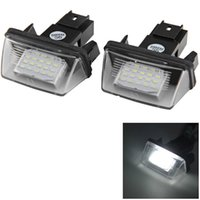 Wholesale 1 Pair V Car License Plate Light External Lights Replacing Lamp White Light Bulb for Peugeot Citroen