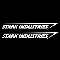 Wholesale Hot Sale Cool graphics Stark Industries Sticker Vinyl Decal Marvel Iron Man Avengers Car Window Car Stying JDM