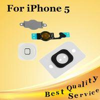 Wholesale New For iPhone Home Button Menu Key Cap Flex Cable Bracket Holder Replacement Part DHL