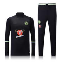 Wholesale Thai Chelsea Tracksuit Track suits MancHesters chandal Hazard Arsen City training suits sports wear