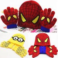 Cheap Unisex Caps & Hats Best Spring / Autumn Crochet Hats Minions Spiderman caps