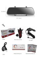 Wholesale Dashcam Car DVRS Dual Camera lens x1080p FPS quot TFT External IR Rear Camera r Car DVR Original