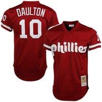 Wholesale Men s Philadelphia Phillies baseball jerseys Darren Daulton Mitchell Ness Stitched Red Cooperstown Mesh Batting Practice Jersey