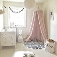 Solid baby decor cribs - Palace Style Baby Crib Netting Bed Mantle Bed Nets Dome Tent Kids Room Decor Infants Sleep Bedside Crib Netting barraca infantil