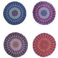 beautiful beach towels - New The Beautiful Round Flower Multi Function Chiffon Blankets Can Use as Yoga Mat Wall Hanging Tablecloth Retro Beach Towel