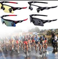 Wholesale Outdoor Sport Cycling Bicycle Bike Riding Sun Glasses Eyewear Goggle UV Professional Sport Outdoor Bikes Eye Wear Sunglasses KKA1351