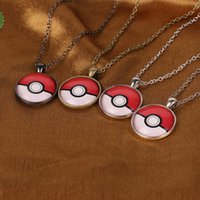 baby pendent - Cute Cartoon Anime Poke Ball Jewelry Pendent Necklaces Time Gem Pendants Sweater Chain Kids Baby Christmas Gifts Fashion Accessories