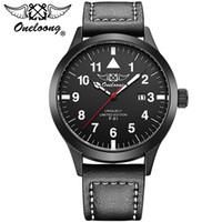aviation belt - 2017 New Brand Oneloong Men s Aviation Watches Luxury Fashion Analog Quartz Wrist Watch Leather Belt Army Watch ATM Water Resistance