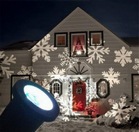 Wholesale Snow Flake Projector Waterproof Moving Snow Laser Projector Lamps Snowflake LED Stage Light For Christmas Party Light Garden Lamp F848