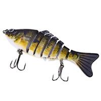 Wholesale Lixada cm g D Eyes Fishing Lure Lifelike Jointed Swimbait Fishing Lures Crankbait Hard Bait Fish Hook Fishing Tackle B