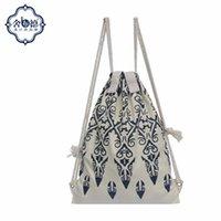 2017 El diseño original del estilo de Kazak del diseño empaqueta los bolsos portables del recorrido del ocio de la lona del viento de las naciones del morral del envío libre