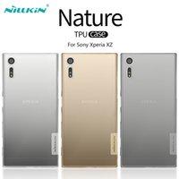 al por mayor los teléfonos xperia-Para las cajas del teléfono de Sony Xperia XZ Nillkin la serie de la naturaleza Transparente Caja suave suave de TPU para la piel del caso de Sony Xperia XZ