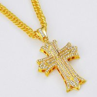 african men jewelry - Fashion Men High Quality Hip Hop Jewelry Stainless Steel Cross Pendant Necklaces Punk Rock Micro Mens k Gold Chains Long