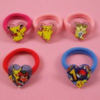 Wholesale shenzhen factory Pikachu Figure hair ring Collectible plastic Figures girl gift Figures hair ring Toys