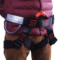 Wholesale Climbing Harnesses Outdoor High Altitude Safe Bust Insurance Belts Escape Downhill Safety Belt Mountaineering Life Belt European Style kr
