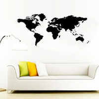 art black background - Vinyl World Map Wall Stickers for Living Room Office Background Home Decals Mual Art