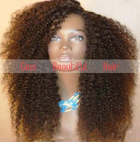 Wholesale Afro Kinky Curly Lace Front Wigs Malaysian Virgin Human Hair Glueless Full Wigs with Bleached Knots Baby Hair for Black Women