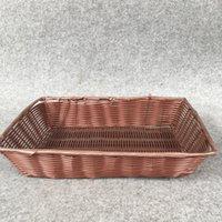 antique bridal basket - handwork New design multifunction fruit decorative basket PP imitation rattan storage baskets