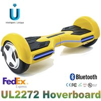 Wholesale 2016 Unique inch new type with bluetooth cellphone App control LED light hoverboard electric scooter with Samsung battery UL certification