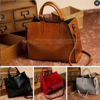 Wholesale Cowhide Shoulder Bags Fashion Aslant Bag Leather Laptop Bags Vintage Shopping Bag Handbag Messenger Bag Crossbody Satchel Bags New B1469