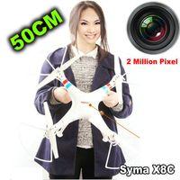 Nouvelle version Syma énorme 50CM X8C 2.4G 4ch 6 Axe Venture avec la caméra grand angle 2MP RC Quadcopter Drone VS CX 20