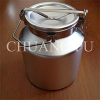 aluminum milk cans - 5L Aluminum Alloy Transport Can Food Grade Material mm Thickness for Milk Collecting Milk Transport Equipment