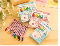 Wholesale Crayons and Rods Children Paintings Sketch a set of color non toxic crayons oil painting sticks student supplies