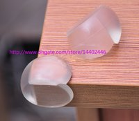 Wholesale 1000pcs a DHL FEDEX Round Corner Protectors Corner Cushions For Glass Tables Or Shelves With M Sticker Baby Safe