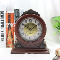 Wholesale Hot selling gift clock with resin decoration wooden table clocks home decor modern clock cheap factory price exported from china