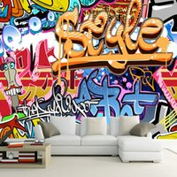 Wholesale Custom Mural D Cartoon Graffiti Photo Wall Papers Moisture Modern Style For Kids Bedroom Living Room Home Decor Wallpaper Roll